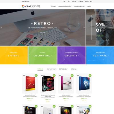 Responsives PrestaShop Theme für Softwarefirma