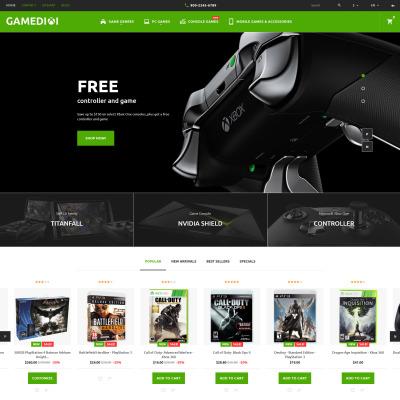 Game Portal Responsive PrestaShop шаблон