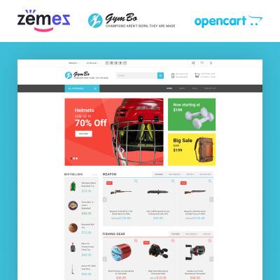 Sports Store Responsive OpenCart šablona
