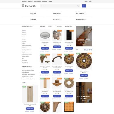 Building Materials Responsive OpenCart šablona