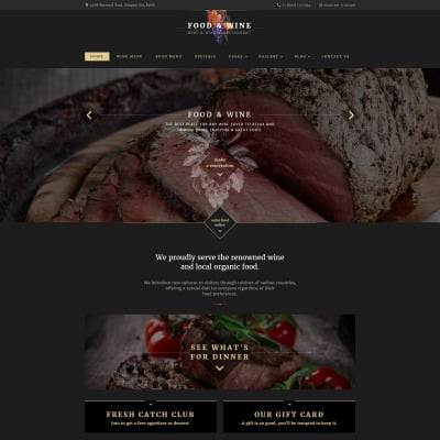 Cafe and Restaurant Responsive Weboldal Sablon