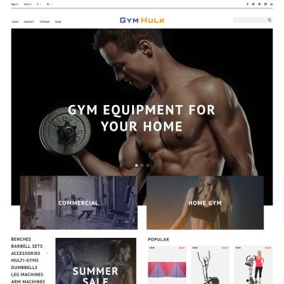 Gym Responsive PrestaShop Motiv