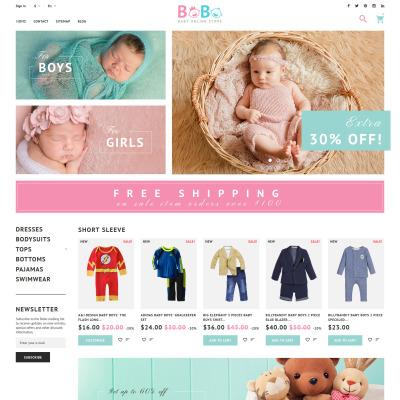 Baby Store Responsive PrestaShop шаблон