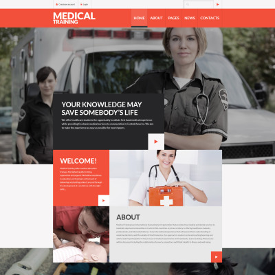 Ambulance Responsive Joomla Template