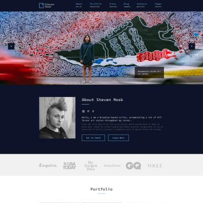 Responsives WordPress Theme für Künstler-Portfolio