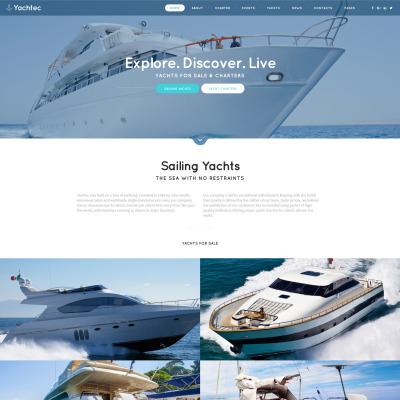 Yachting Responsive Šablona Webových Stránek