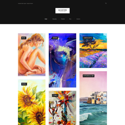 Artist Portfolio Responsive WordPress Sablon