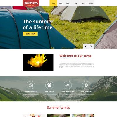 Summer Camp Responsive Joomla šablona