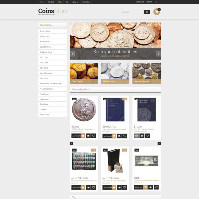 Responsives Shopify Theme für Antiquitätenladen