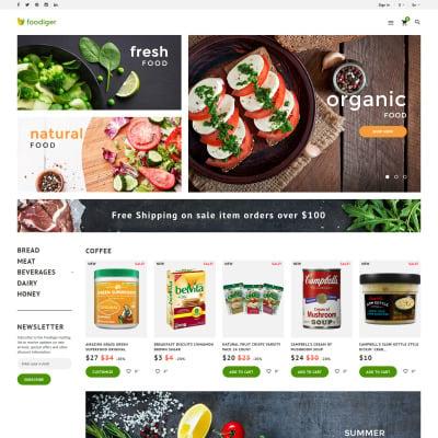Food Store Responsive PrestaShop шаблон