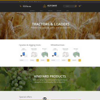 Agriculture Responsive PrestaShop шаблон