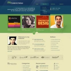 Drupal Vorlage für Designer Portfolio