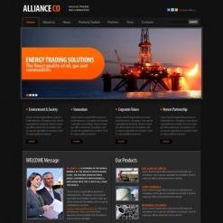 Modèle Flash CMS Pour Facebook  pour site de gaz et de pétrole