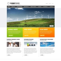 Alternative Power Facebook HTML CMS Template