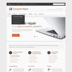 Facebook HTML CMS Vorlage für Computer-Reparatur