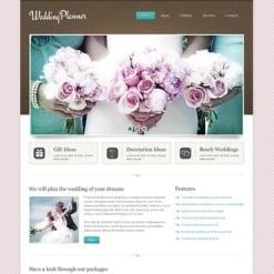 Wedding Planner Facebook HTML CMS Template