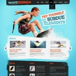 Wakeboarding Facebook HTML CMS Template