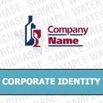 Unternehmensidentität Vorlage für Wine