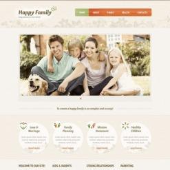 Facebook HTML CMS Vorlage für Familienzentrum