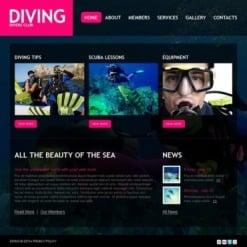 Diving Facebook HTML CMS Template