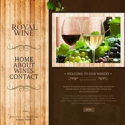 Moto CMS HTML Vorlage für Wine