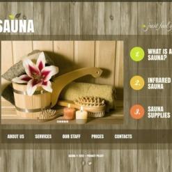 Plantilla Facebook HTML CMS #43258 para Sitio de Sauna