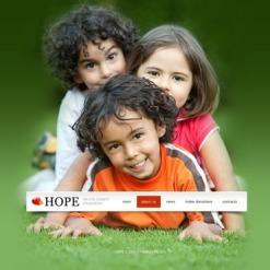 Facebook HTML CMS Vorlage für Kindercharity