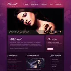 Plantilla Facebook HTML CMS #43413 para Sitio de Peluquería