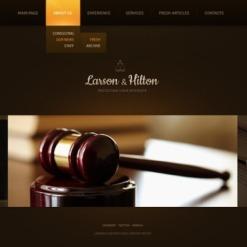 Facebook HTML CMS Vorlage für Anwaltskanzlei
