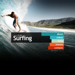 Surfing Facebook HTML CMS Template