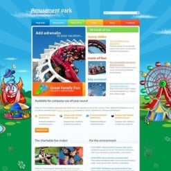 Amusement Park Facebook HTML CMS Template