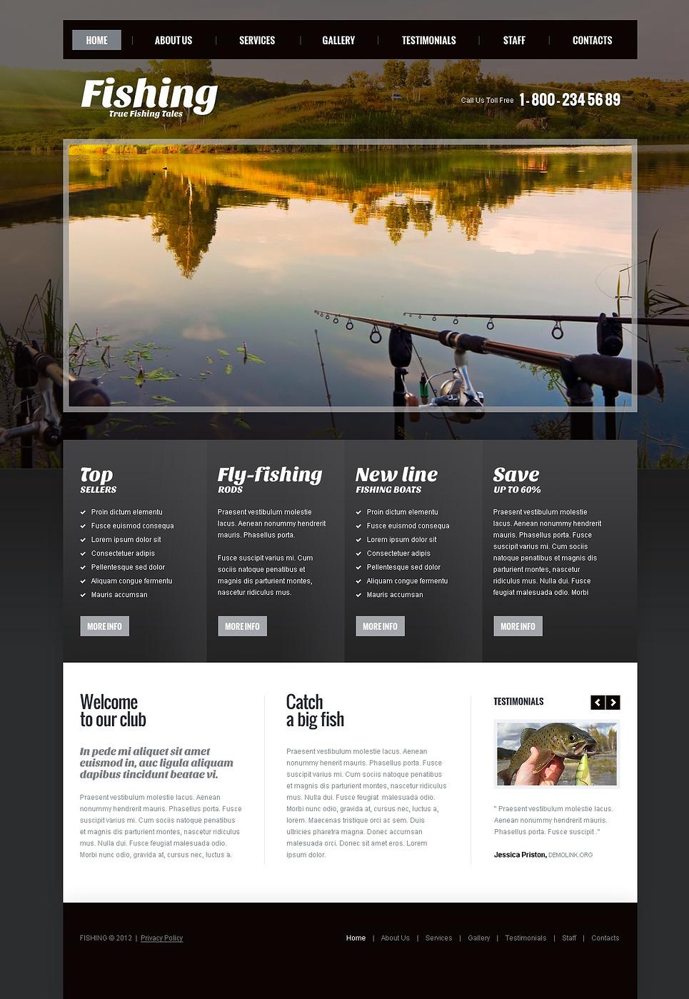 Шаблон тематика рыбалка