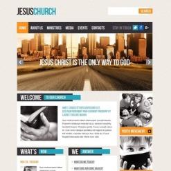 Szablon Facebook HTML CMS #43831 na temat: chrześcijaństwo