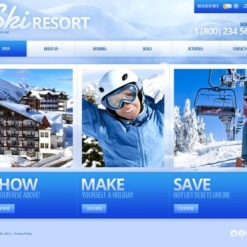 Skiing Facebook HTML CMS Template