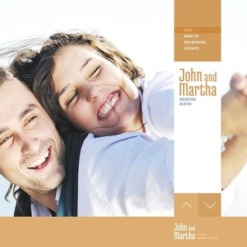 Website Vorlage für Hochzeitsalbum