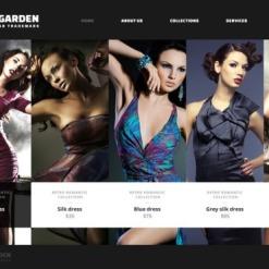 Website Vorlage für Mode