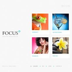 Website Vorlage für Fotografen Portfolio