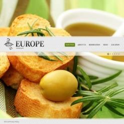 Flash CMS Vorlage für European Restaurant