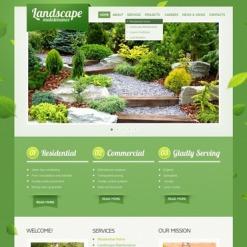 Facebook HTML CMS Vorlage für Landschaftsgestaltung