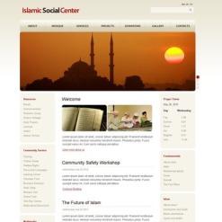 Szablon Facebook HTML CMS #44090 na temat: islam