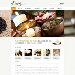 Spa Accessories Facebook HTML CMS Template