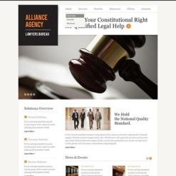Flash CMS Vorlage für Anwaltskanzlei