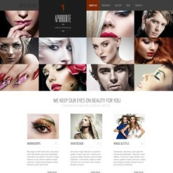 Plantilla Facebook HTML CMS #44231 para Sitio de Escuela de belleza