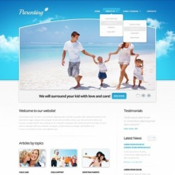 Facebook HTML CMS Vorlage für Familie