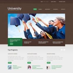 Facebook HTML CMS Vorlage für Universität