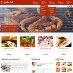 Responsives WordPress Theme für Fischrestaurant