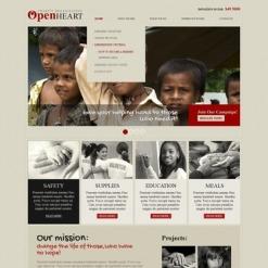 Facebook HTML CMS Vorlage für Wohltätigkeit