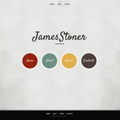 Facebook HTML CMS Vorlage für Designer Portfolio