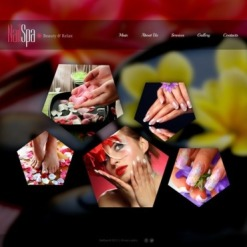 Plantilla Facebook HTML CMS #44638 para Sitio de Salón de manicura