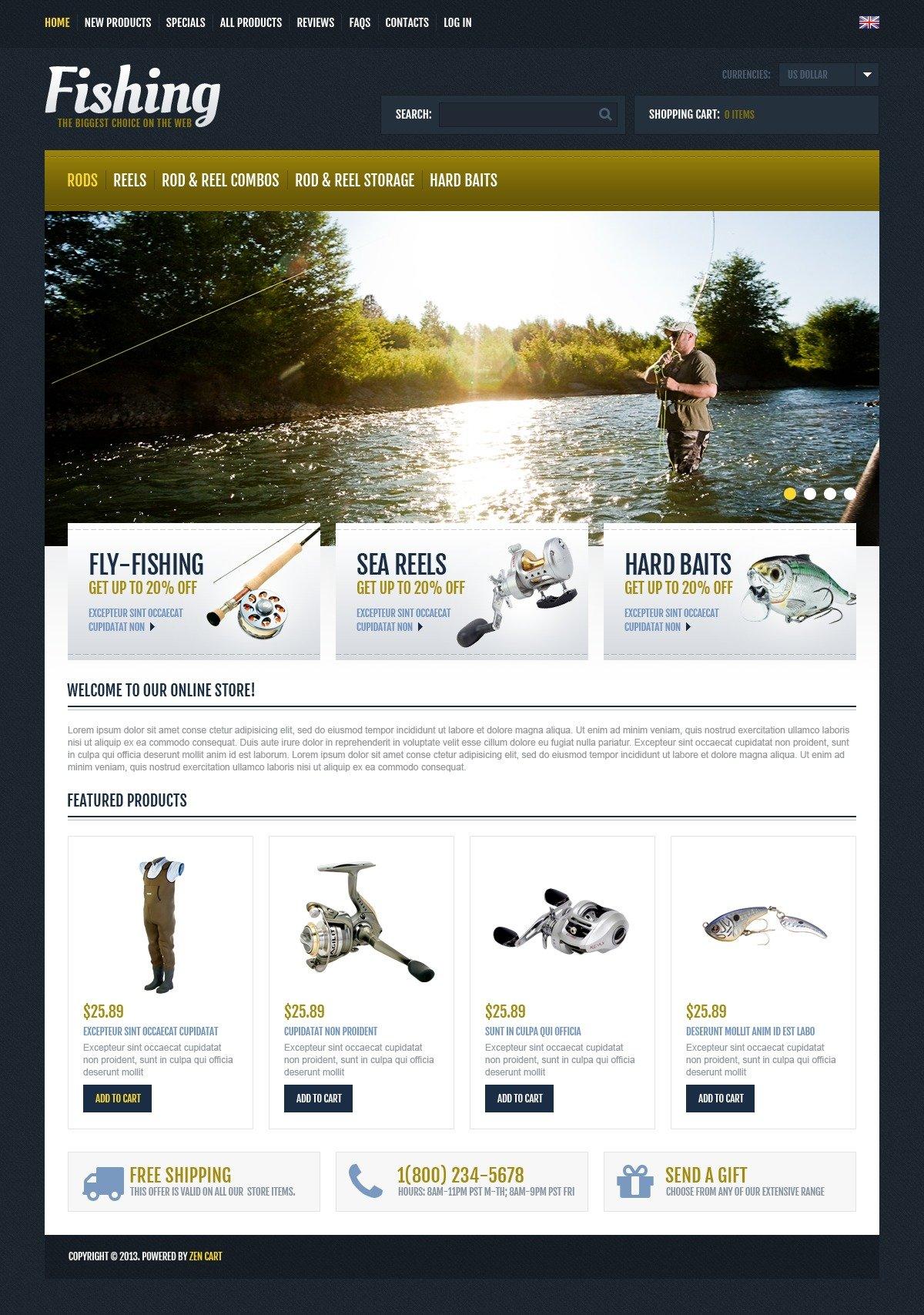 Fishermen club - fishing responsive wordpress template